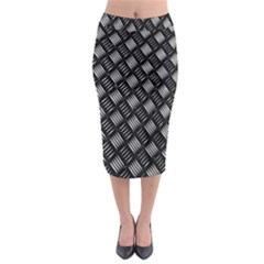 Abstract Of Metal Plate With Lines Midi Pencil Skirt