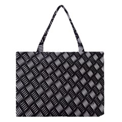 Abstract Of Metal Plate With Lines Medium Tote Bag