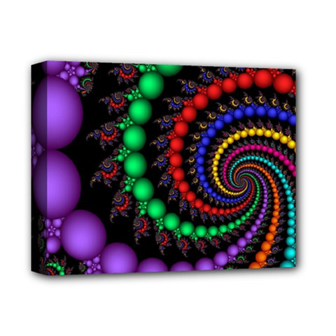 Fractal Background With High Quality Spiral Of Balls On Black Deluxe Canvas 14  X 11