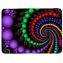 Fractal Background With High Quality Spiral Of Balls On Black Samsung Galaxy Tab 7  P1000 Flip Case View1