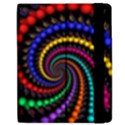 Fractal Background With High Quality Spiral Of Balls On Black Samsung Galaxy Tab 7  P1000 Flip Case View2