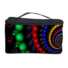 Fractal Background With High Quality Spiral Of Balls On Black Cosmetic Storage Case