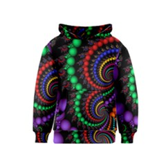 Fractal Background With High Quality Spiral Of Balls On Black Kids  Pullover Hoodie