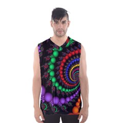 Fractal Background With High Quality Spiral Of Balls On Black Men s Basketball Tank Top