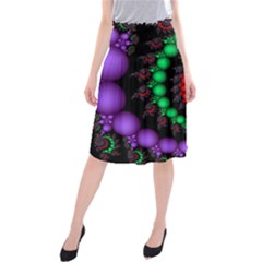 Fractal Background With High Quality Spiral Of Balls On Black Midi Beach Skirt