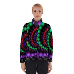 Fractal Background With High Quality Spiral Of Balls On Black Winterwear