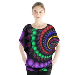 Fractal Background With High Quality Spiral Of Balls On Black Blouse