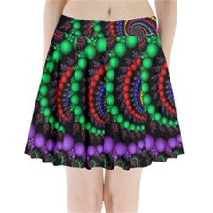 Fractal Background With High Quality Spiral Of Balls On Black Pleated Mini Skirt