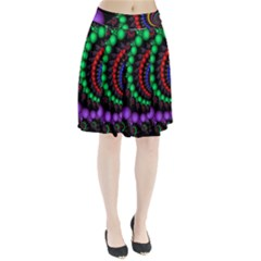 Fractal Background With High Quality Spiral Of Balls On Black Pleated Skirt