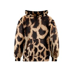 Yellow And Brown Spots On Giraffe Skin Texture Kids  Pullover Hoodie