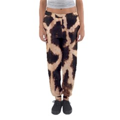 Yellow And Brown Spots On Giraffe Skin Texture Women s Jogger Sweatpants