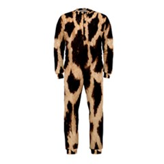 Yellow And Brown Spots On Giraffe Skin Texture Onepiece Jumpsuit (kids)
