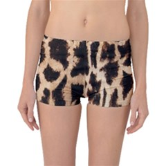 Yellow And Brown Spots On Giraffe Skin Texture Boyleg Bikini Bottoms