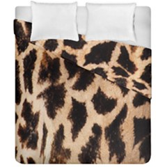 Yellow And Brown Spots On Giraffe Skin Texture Duvet Cover Double Side (california King Size)