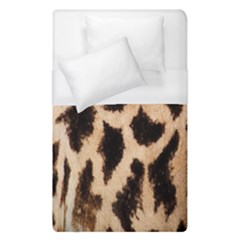 Yellow And Brown Spots On Giraffe Skin Texture Duvet Cover (single Size)