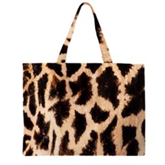 Yellow And Brown Spots On Giraffe Skin Texture Large Tote Bag