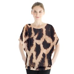 Yellow And Brown Spots On Giraffe Skin Texture Blouse