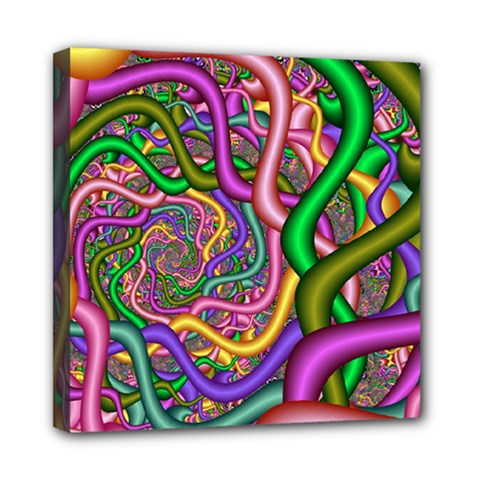 Fractal Background With Tangled Color Hoses Mini Canvas 8  X 8