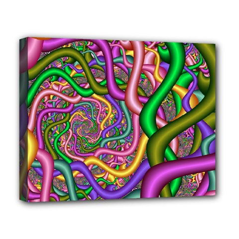 Fractal Background With Tangled Color Hoses Deluxe Canvas 20  X 16