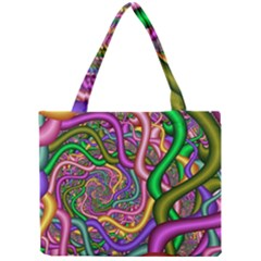 Fractal Background With Tangled Color Hoses Mini Tote Bag