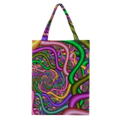 Fractal Background With Tangled Color Hoses Classic Tote Bag