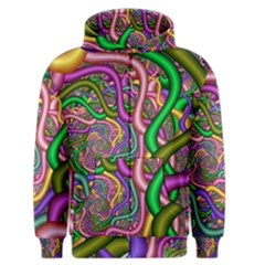 Fractal Background With Tangled Color Hoses Men s Zipper Hoodie