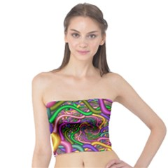 Fractal Background With Tangled Color Hoses Tube Top
