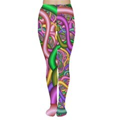 Fractal Background With Tangled Color Hoses Women s Tights