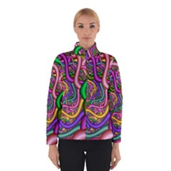Fractal Background With Tangled Color Hoses Winterwear