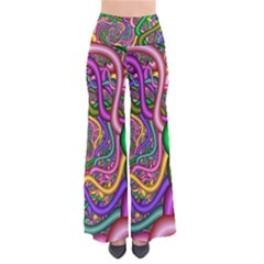 Fractal Background With Tangled Color Hoses Pants