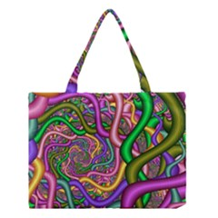 Fractal Background With Tangled Color Hoses Medium Tote Bag