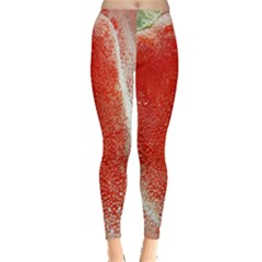 Red Pepper And Bubbles Leggings