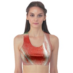 Red Pepper And Bubbles Sports Bra