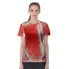 Red Pepper And Bubbles Women s Sport Mesh Tee