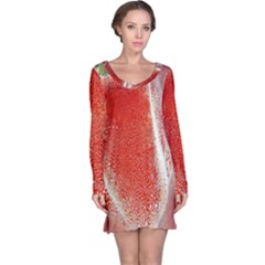 Red Pepper And Bubbles Long Sleeve Nightdress