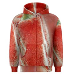 Red Pepper And Bubbles Men s Zipper Hoodie