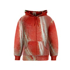 Red Pepper And Bubbles Kids  Zipper Hoodie