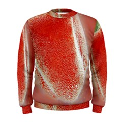 Red Pepper And Bubbles Men s Sweatshirt