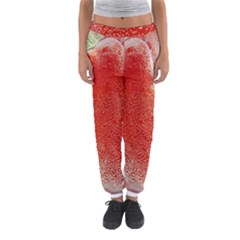 Red Pepper And Bubbles Women s Jogger Sweatpants