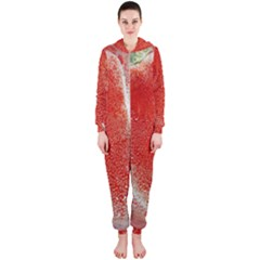 Red Pepper And Bubbles Hooded Jumpsuit (ladies)