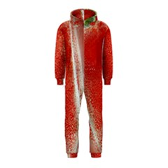 Red Pepper And Bubbles Hooded Jumpsuit (kids)