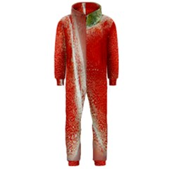 Red Pepper And Bubbles Hooded Jumpsuit (men)