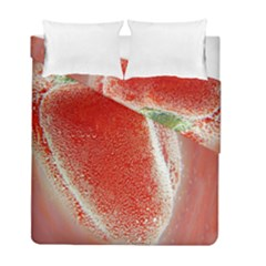 Red Pepper And Bubbles Duvet Cover Double Side (full/ Double Size)