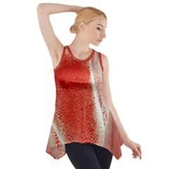 Red Pepper And Bubbles Side Drop Tank Tunic