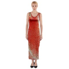 Red Pepper And Bubbles Fitted Maxi Dress