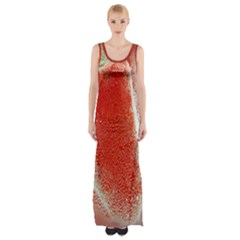 Red Pepper And Bubbles Maxi Thigh Split Dress