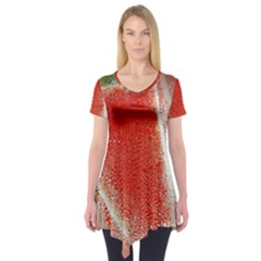 Red Pepper And Bubbles Short Sleeve Tunic