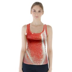 Red Pepper And Bubbles Racer Back Sports Top