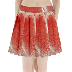 Red Pepper And Bubbles Pleated Mini Skirt