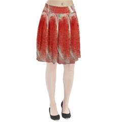 Red Pepper And Bubbles Pleated Skirt